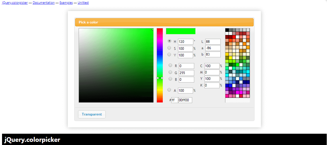 jQuery.colorpicker