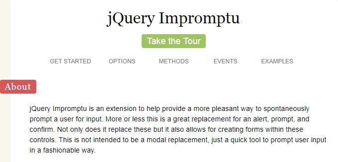 jQuery Impromptu
