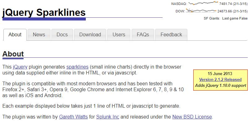 jQuery Sparklines