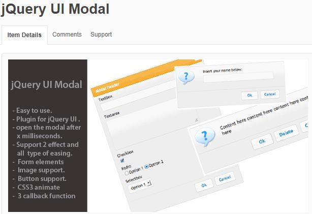 jQuery UI Modal