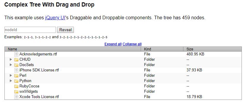 jQuery treetable