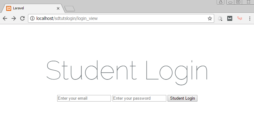 laravel login view blade template