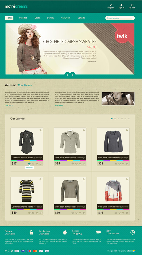 moire e commerce by versesdesign