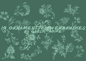 ornament brushes by GaelicAoife