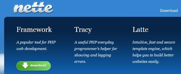 php nette framework