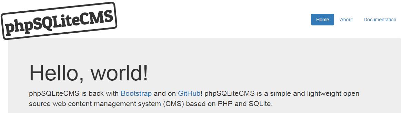 phpSQLiteCMS