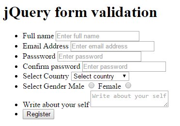 preview first stem form validation