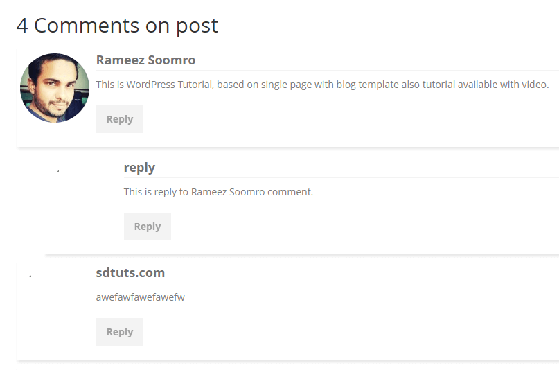 Comments Preview after applying css properties