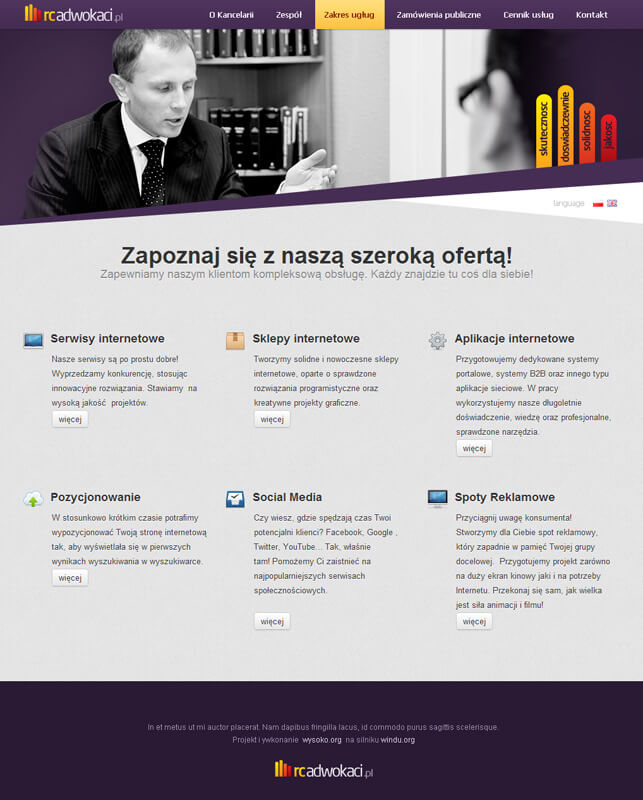 rcadwokaci - law office webdesign by jcd-pl