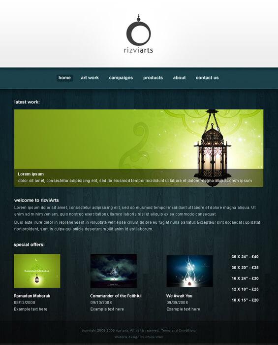 rizviArts - webdesign 2 by rizviGrafiks