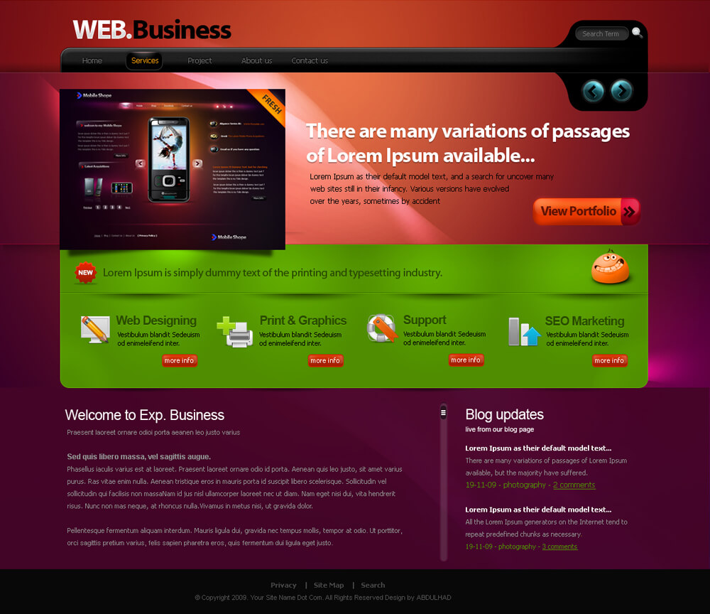 web portfolio by aadi-f
